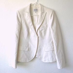 Armani Collezioni white blazer suit jacket
